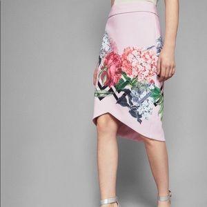 Ted Baker London Skirts - NWT Ted Baker floral asymmetrical pencil skirt